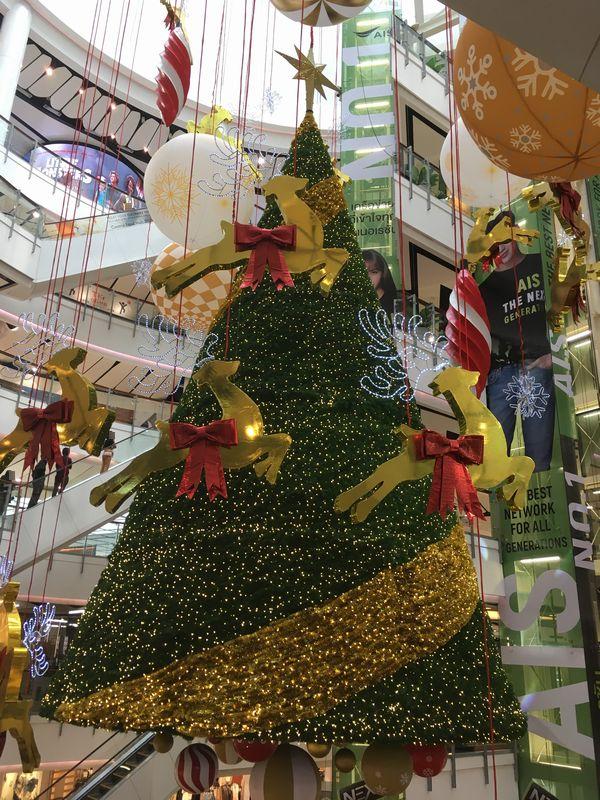 タイ バンコク セントラルワールド クリスマスツリー