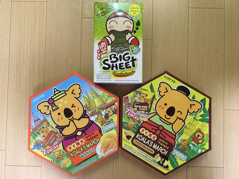 タイ バンコク タイ限定コアラのマーチ マンゴー チョコバナナ BIG SHEET