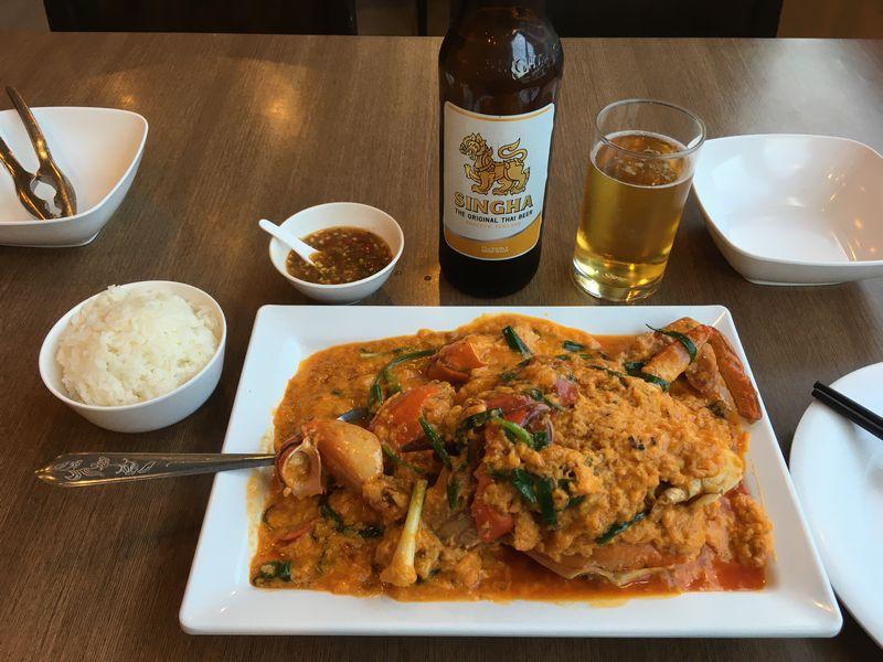 タイ バンコク ソンブーン バンタットーン本店 Somboon Seafood Bantadthong プーパッポンカリー