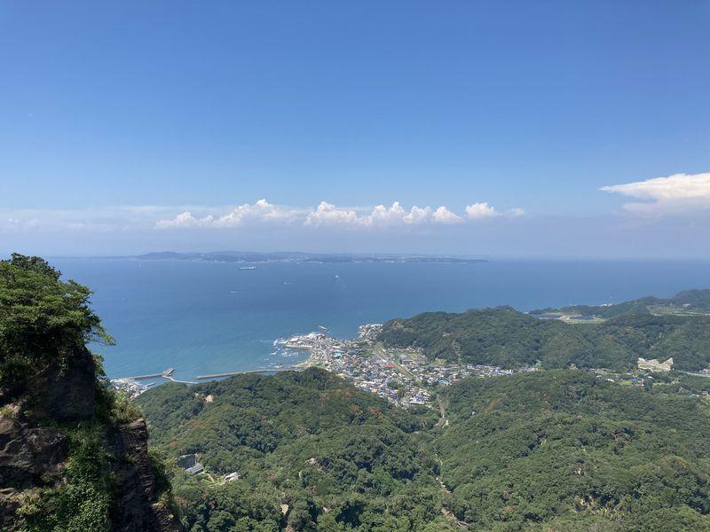 鋸山 山頂展望台 景色 東京湾方面