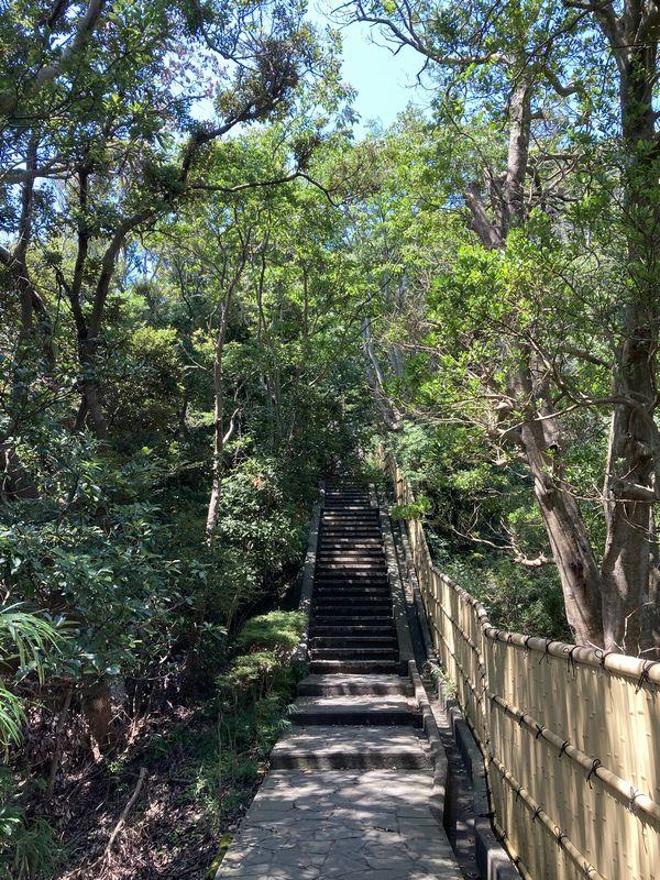 鋸山 日本寺 階段
