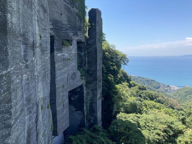 鋸山 ラピュタの壁