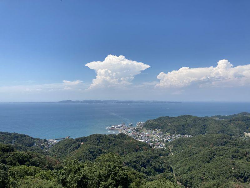 鋸山 景色 雲