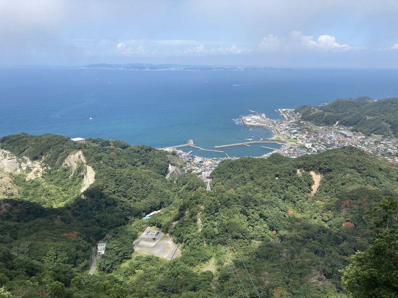 鋸山 山頂駅 展望台 景色 東京湾方面