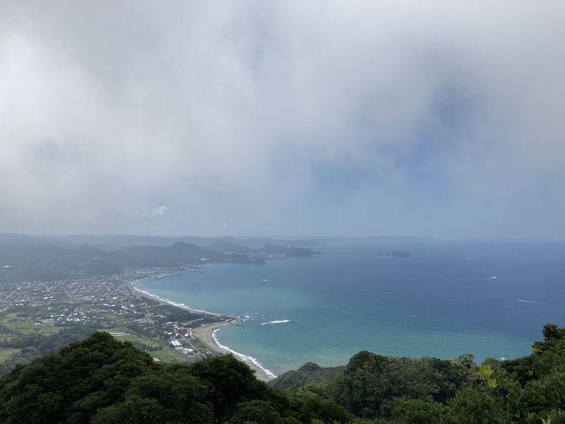 鋸山 山頂駅 展望台 景色 保田・元名海岸方面