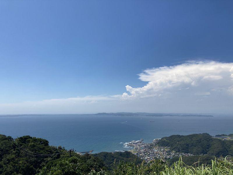 鋸山 東京湾を望む展望台(地球が丸く見える展望台) 東京湾方面