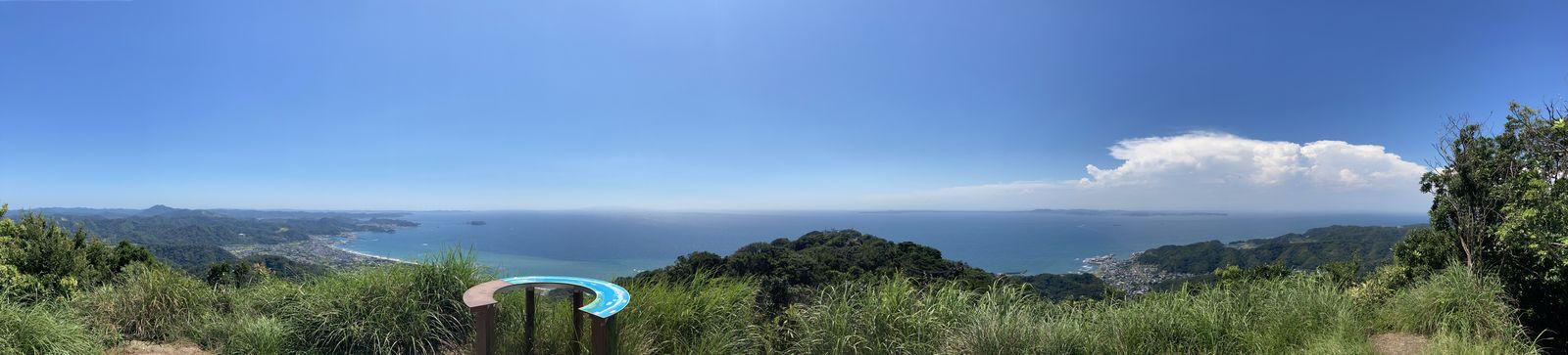 鋸山 東京湾を望む展望台(地球が丸く見える展望台)