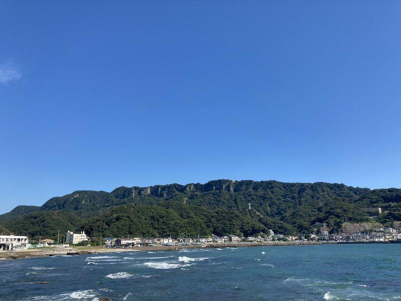 鋸山方面の景色